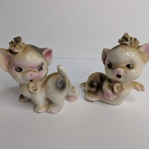 Salt and Pepper Shakers Vintage Cat Kittens